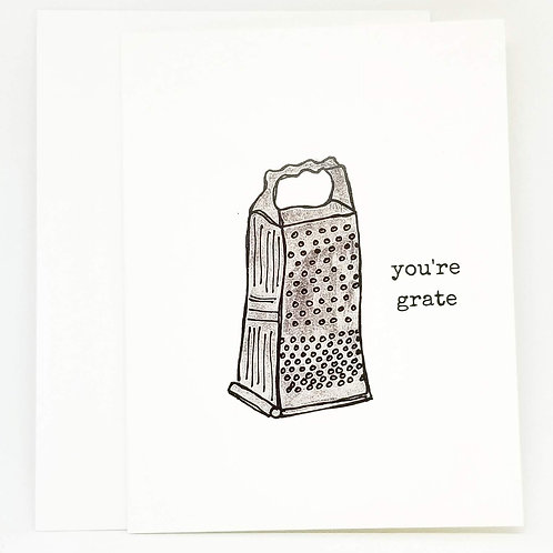 You're Grate Punny Valentine's Card