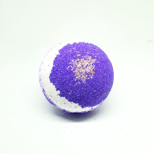 Vanilla Lavender Bath Bombs with Pink Sea Salt | Lavender Bath Bombs
