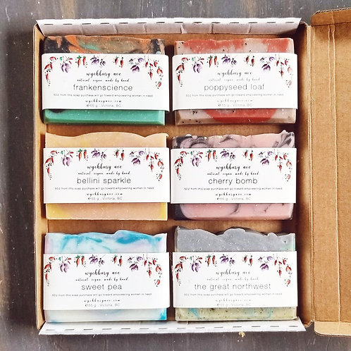 6 Soap Gift Box - Vegan Soap Gift Set