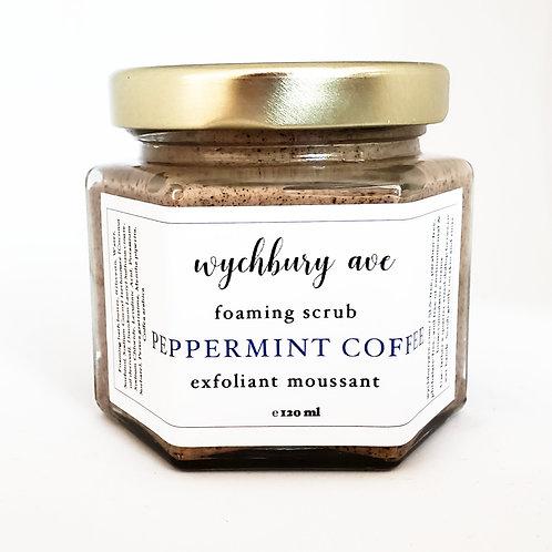 Foaming Peppermint Coffee Scrub | Exfoliating Body Wash