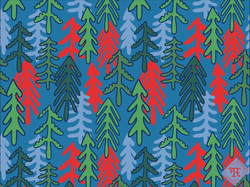 Coniferous Forest - blue-red