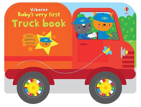 Baby's very first TRUCK BOOK - książka sensoryczna