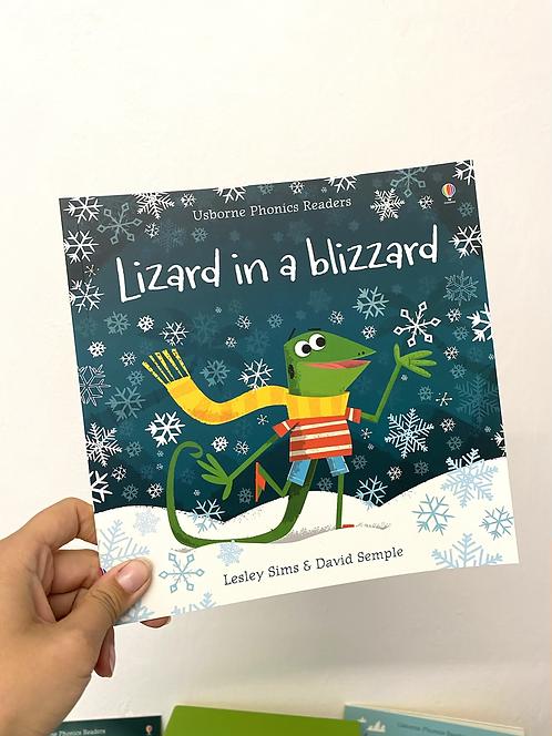 Lizard in a blizzard+ QR