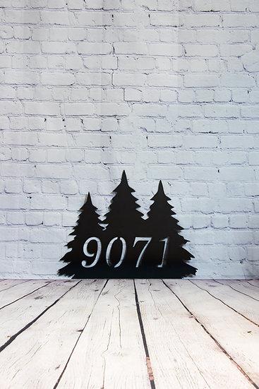 Evergreen Address Sign