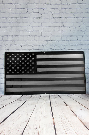 American Flag Sign with Backing