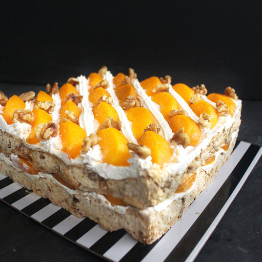 Peach Walnut Torte