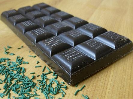 Tablette chocolat noir à la spiruline