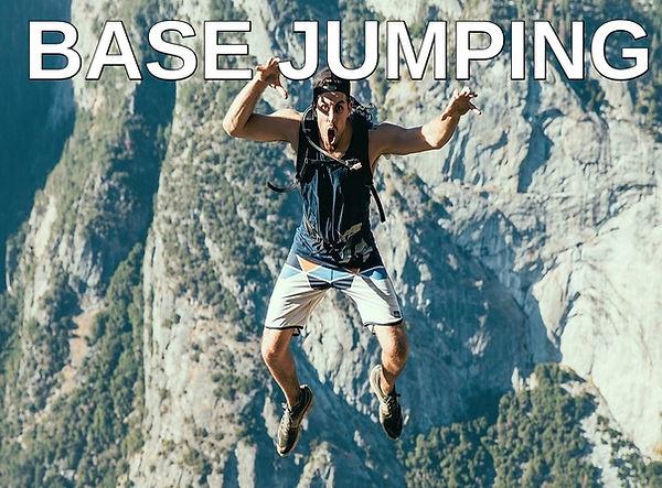 Base jumping hobby