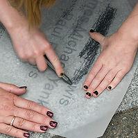 Stone rubbing (Gravestone rubbing).jpg