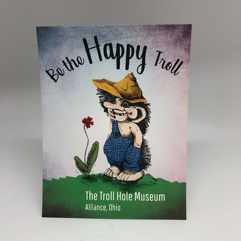 Happy Troll Postcard