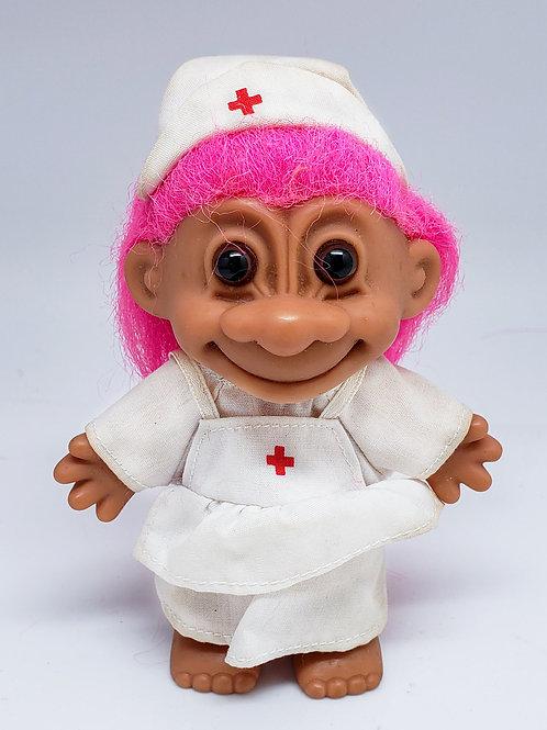 Vintage Russ Troll Doll - Nurse