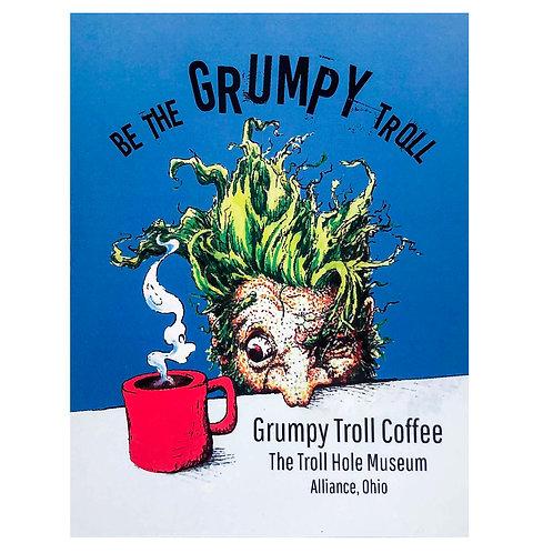 Grumpy Troll Postcard