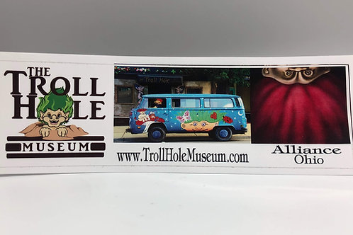 Troll Hole Bumper sticker