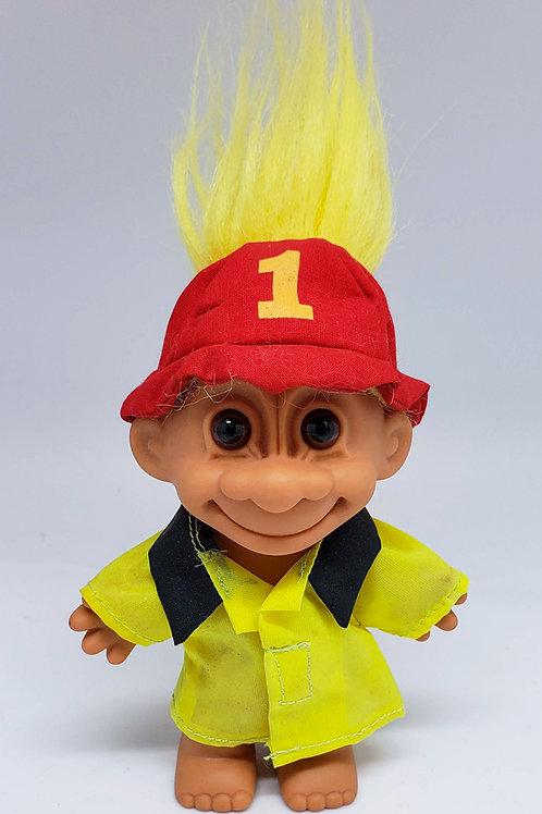 Vintage Russ Troll Doll - Fire Fighter