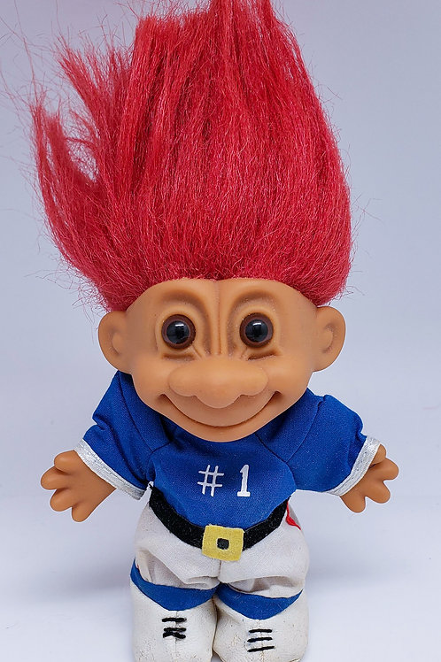 Vintage Russ Troll Doll - Football Player #1
