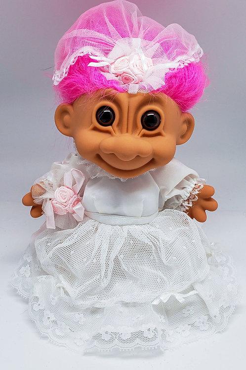 Vintage Russ Troll Doll - Lace Bride XL