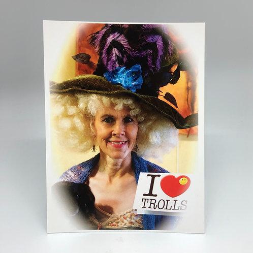 I Love Trolls Postcard