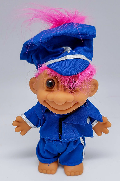 Vintage Russ Troll Doll - Police Officer