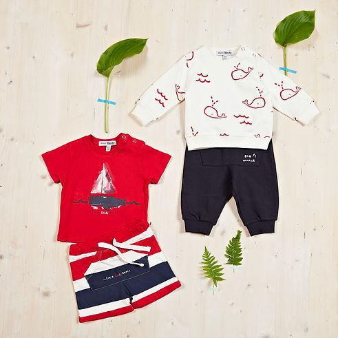 Yours Abbigliamento - vestiti per bambino - Coll. Estate 2021 - Culla 0 - 6 mesi - Yours by 02Tandem