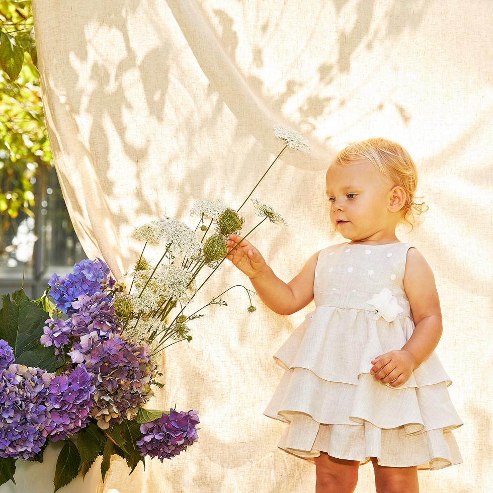 Yours by 02Tandem Abbigliamento - Bambina con abito cerimonia - Coll. Estate 2021 - Newborn 0 - 30 mesi