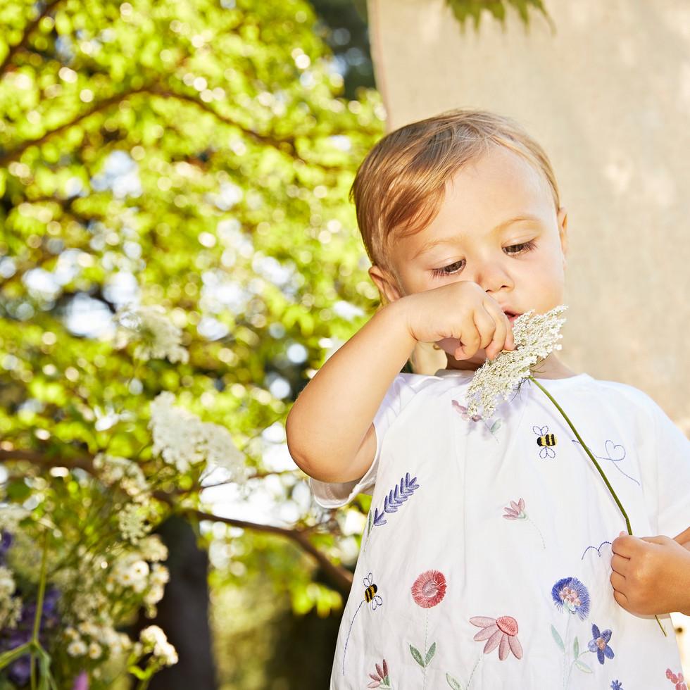 Yours Abbigliamento - Yours by 02Tandem - Bambina con abito a fiori  - Coll. Estate 2021 - Newborn 0 - 30 mesi
