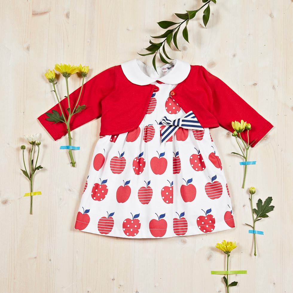Yours Abbigliamento - Abito per neonata - Estate 2021  Culla 0 - 6 mesi - Yours by 02Tandem