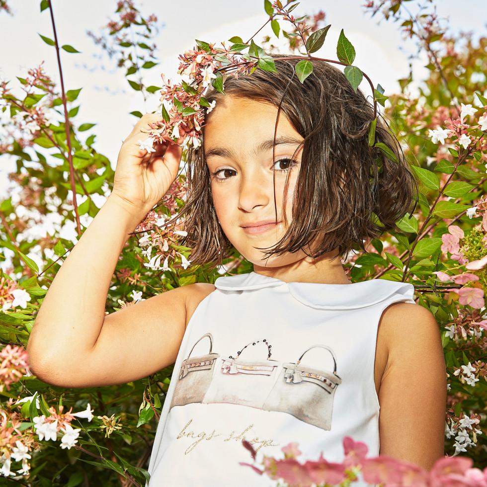 Yours by 02Tandem Abbigliamento - Bambina con abito - Coll. Estate 2021 - Baby 3 - 7 anni