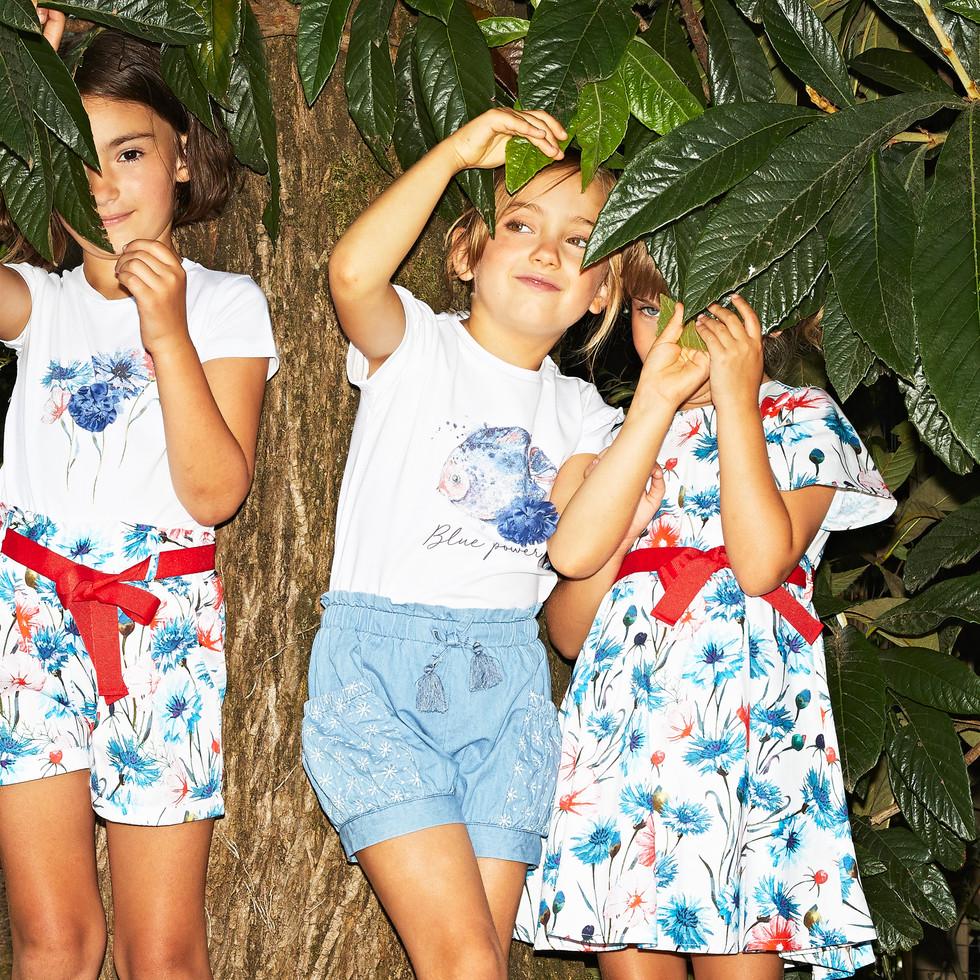Yours by 02Tandem Abbigliamento - Bambine con completi yours - Coll. Estate 2021 - Baby 3 - 7 anni