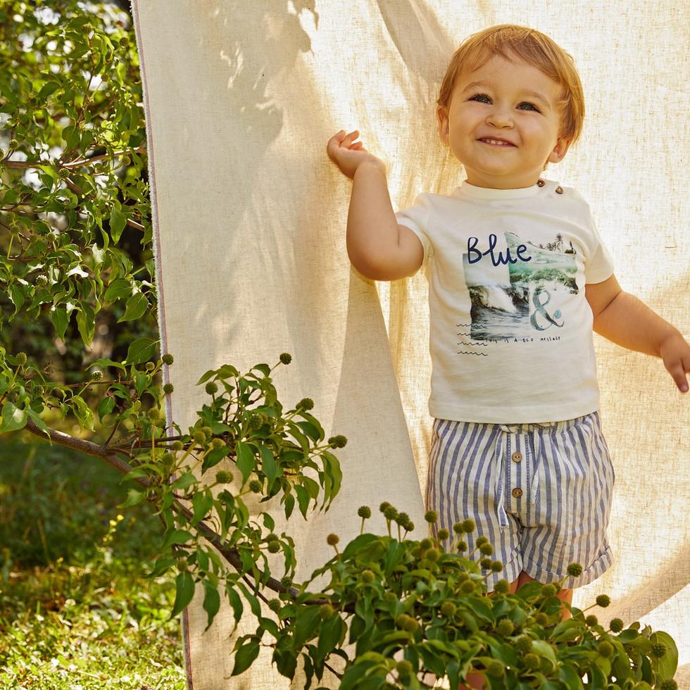 Yours Abbigliamento - Yours by 02Tandem -Bambino pantaloni a righe - Coll. Estate 2021 - Newborn 0 - 30 mesi