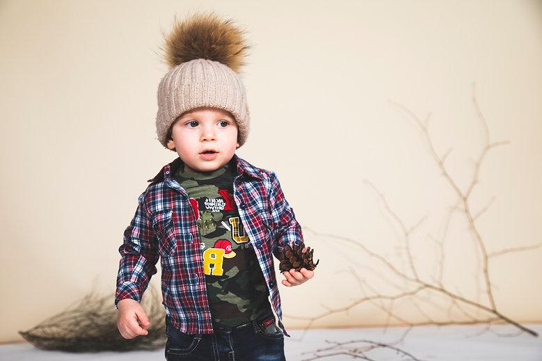Yours Abbigliamento - Bambino con cappello e camicia Coll. Autunno Inverno Newborn Yours by 02Tandem