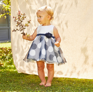 Yours Abbigliamento - Yours by 02Tandem - Bambina con abito da cerimonia - Coll. Estate 2021 - Newborn 0 - 30 mesi