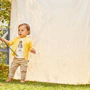 Yours Abbigliamento - Yours by 02Tandem - Bambino con camicia gialla - Coll. Estate 2021 - Newborn 0 - 30 mesi
