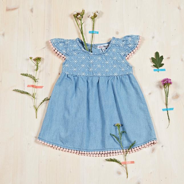 Yours Abbigliamento - Abito per neonata - Estate 2021  Culla 0 - 6 mesi Yours by 02Tandem