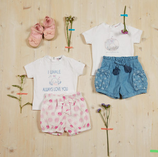 Yours Abbigliamento - Completi per bambina - Estate 2021 - Culla 0 - 6 mesi - Yours by 02Tandem