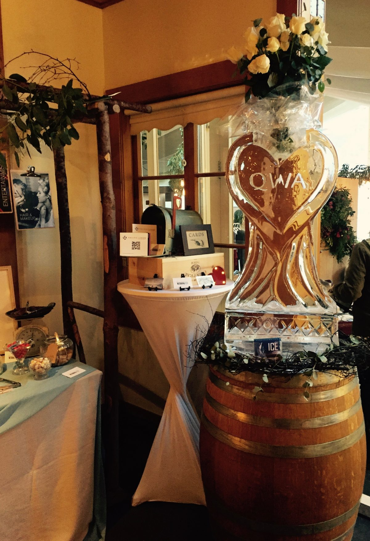 Ice Sculpture for marketing, Queenstown Wedding Association, The Winehouse, Gibbston Valley, Queenst