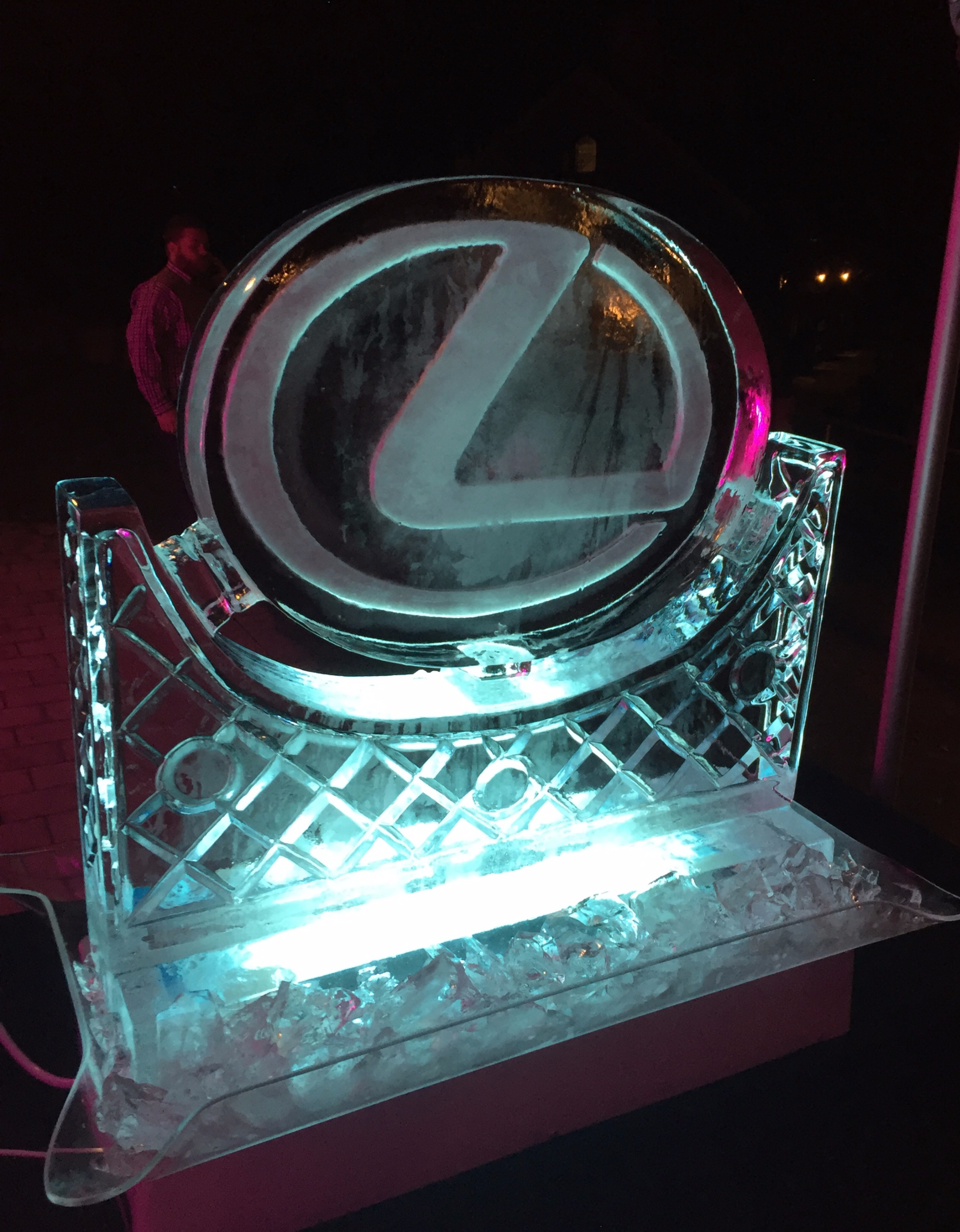 Lexus ice sculpture, launch party at Millbrook Queenstown
