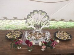 Food Display, Oyster season, buffet ice display, Artisan Catering, NZ High Country