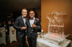 Ice Sculpture for same sex wedding competition, wedding sculpture at Prime Restaurant, Queenstown