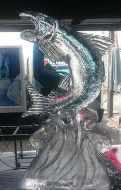 Fish Ice Sculpture, practising, Below Zero, Queenstown