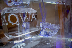Ice Sculpture for Queenstown Wedding Association, freezing objects into ice, Gibbston Valley