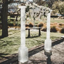 Ice Sculpture, wedding arch, wedding sculpture for wedding at Millbrook, Queenstown