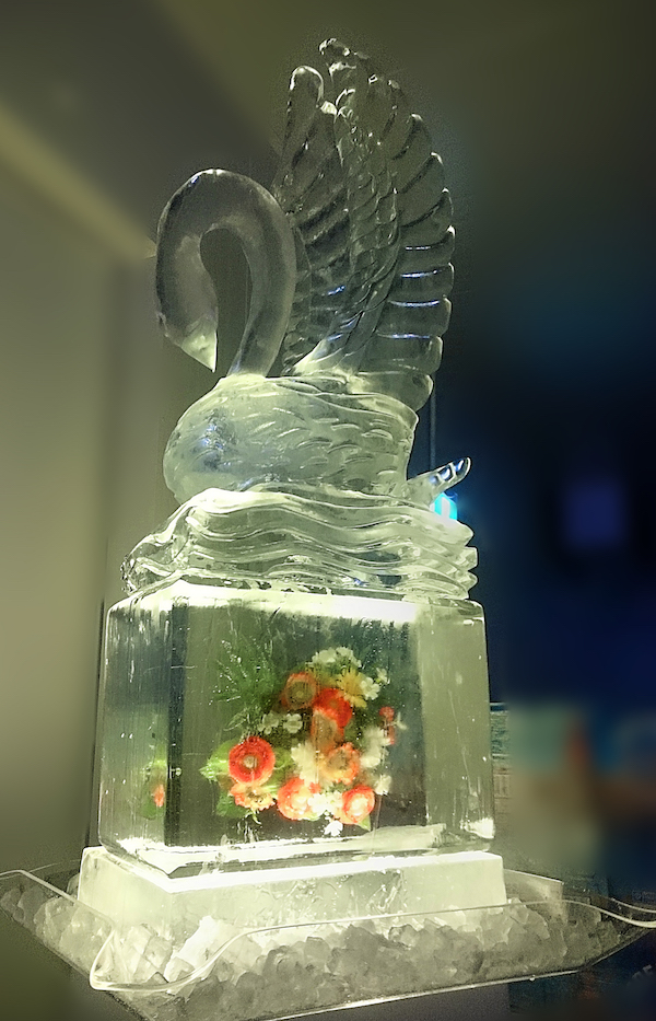 Wedding Ice Sculpture, event ice, freezing objects into ice