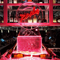 Ice Sculpture for opening night at Reds bar, QT Hotel, Queenstown