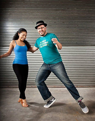 Salsa dance teacher Garry Johnson