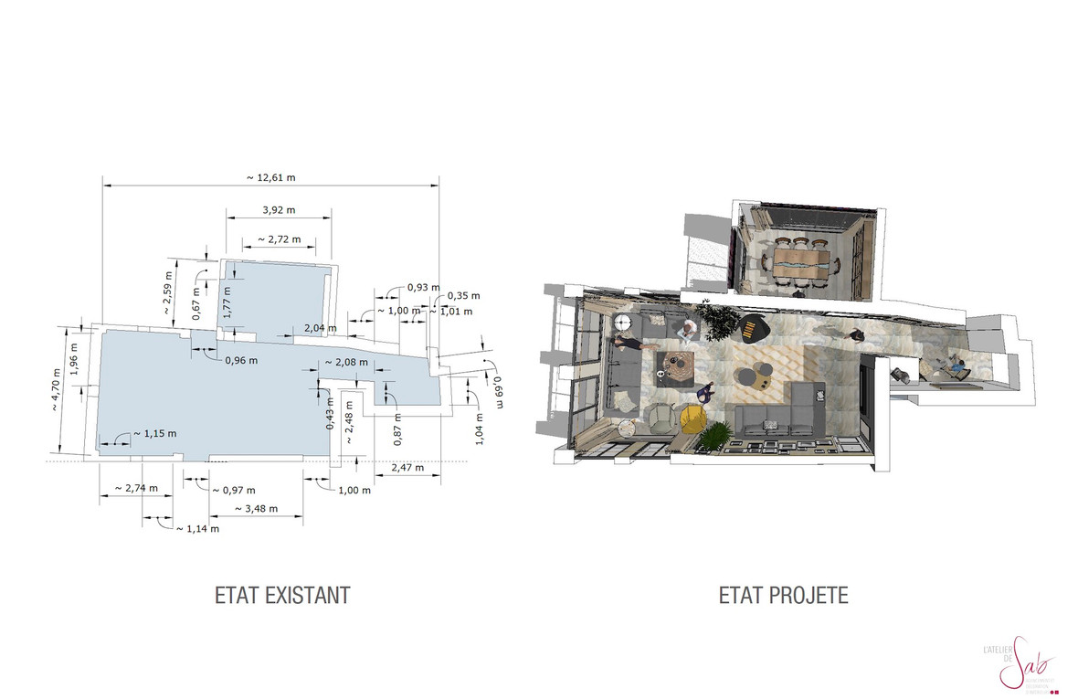 Plan 2D et 3D - Avant et après