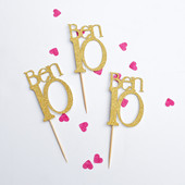 Age & Name cupcake toppers