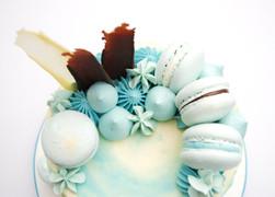 Turquoise Buttercream Cake