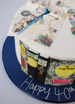 Antique Books & Maps cake