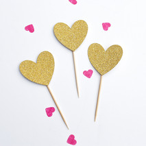 Heart cupcake toppers