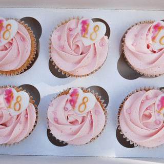 Pretty in Pink 18th cupcakes